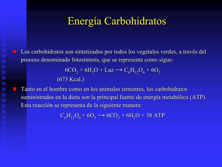 Energía Carbohidratos