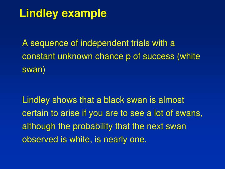 Lindley example