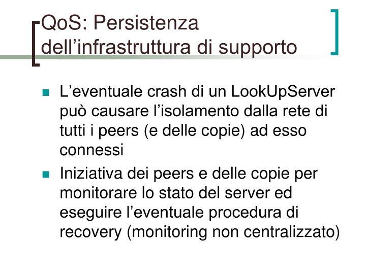 QoS: Persistenza dell'infrastruttura di supporto