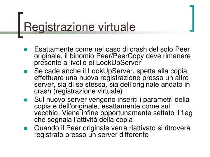 Registrazione virtuale