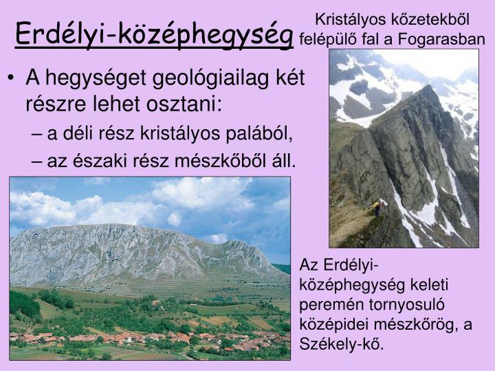 Kristályos kőzetekből felépülő fal a Fogarasban