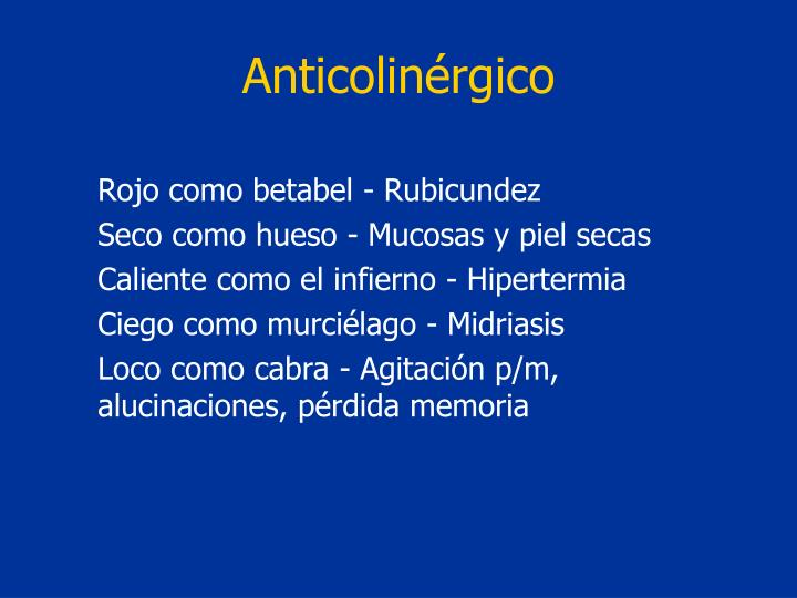 Anticolinérgico