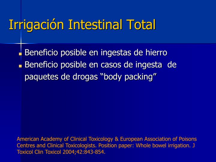 Irrigación Intestinal Total