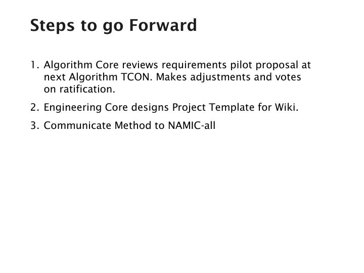 Steps to go Forward
