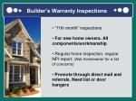 builder s warranty inspections