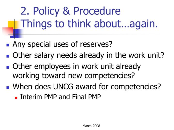 2. Policy & Procedure