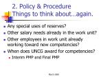 2 policy procedure things to think about again