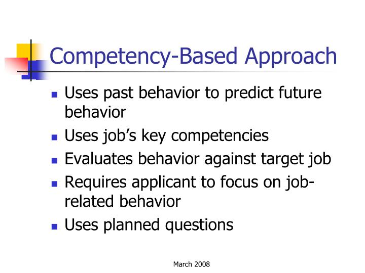 Competency-Based Approach
