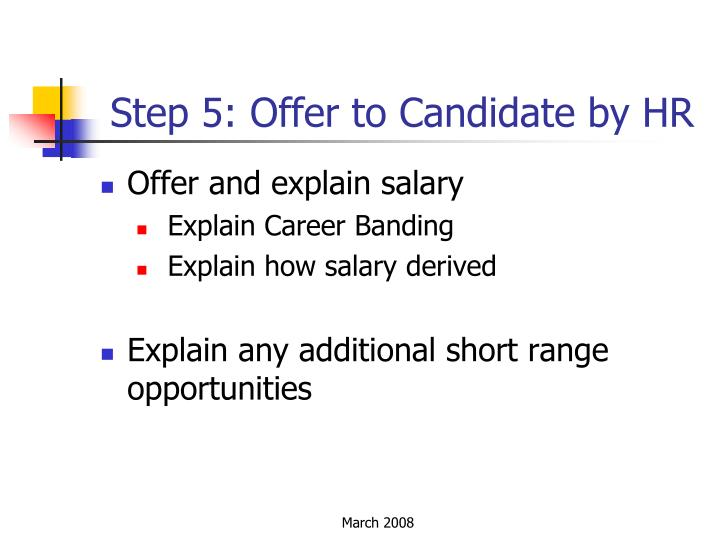 Step 5: Offer to Candidate by HR