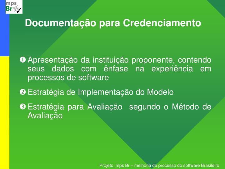 Documentação para Credenciamento