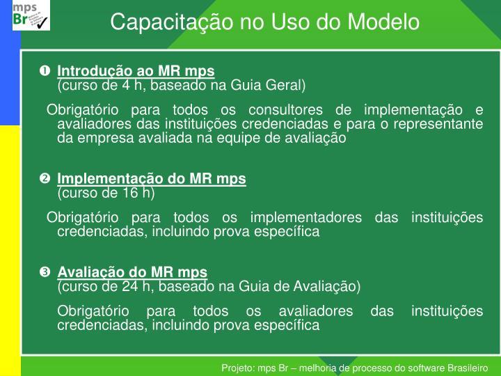 Capacitação no Uso do Modelo