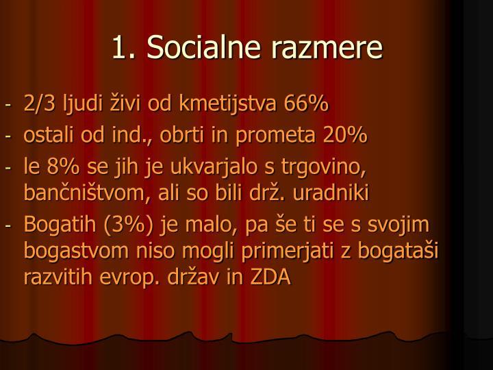 1. Socialne razmere