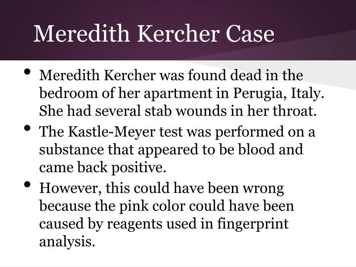 Meredith Kercher Case