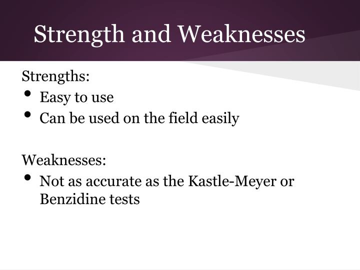 Strength and Weaknesses