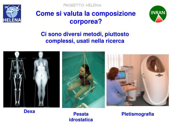 Come si valuta la composizione corporea?