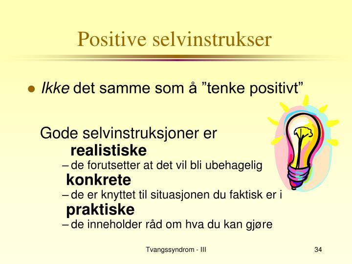 Positive selvinstrukser