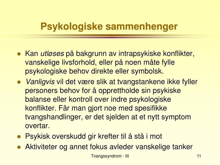 Psykologiske sammenhenger