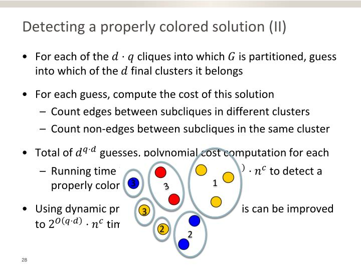 Detecting a properly colored solution (