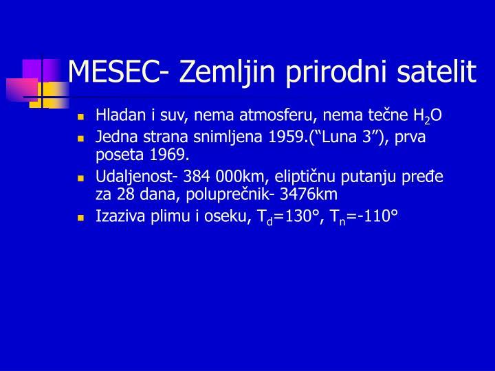 MESEC- Zemljin prirodni satelit