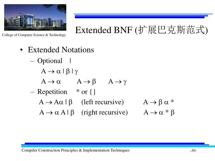 Extended BNF (