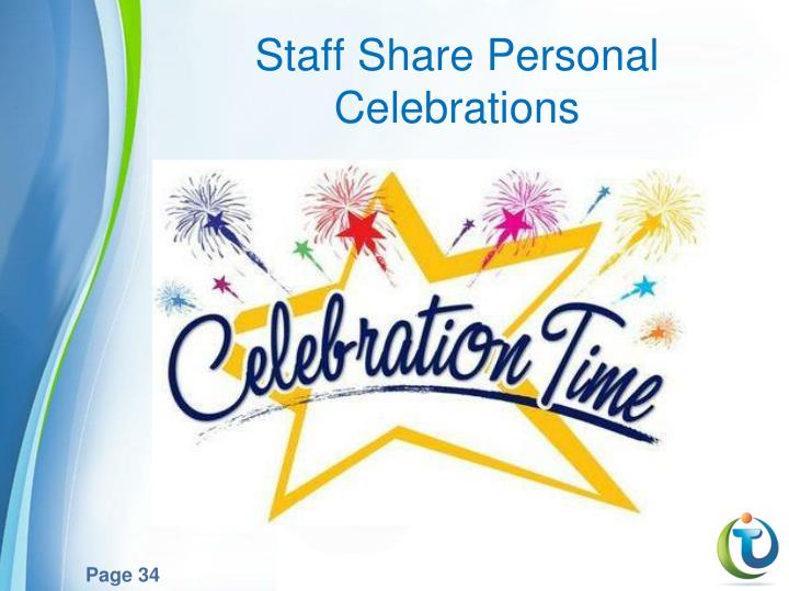 Staff Share Personal Celebrations