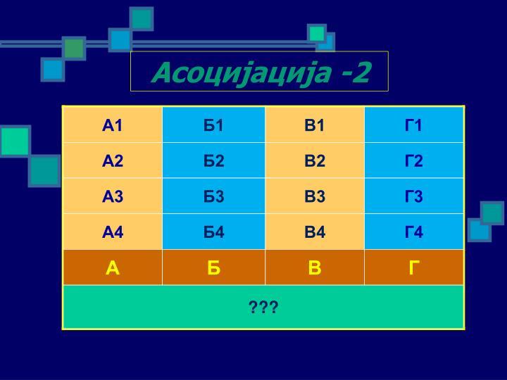 Асоцијација -2