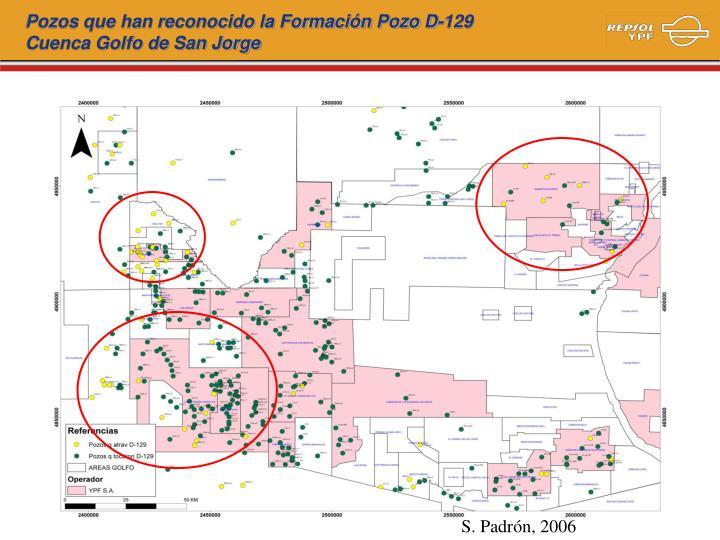 Pozos que han reconocido la Formación Pozo D-129