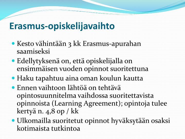 Erasmus-opiskelijavaihto