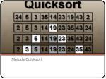 metoda quicksort