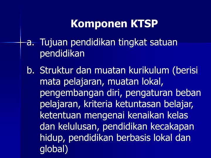 Komponen KTSP