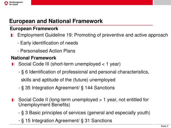 European and National Framework