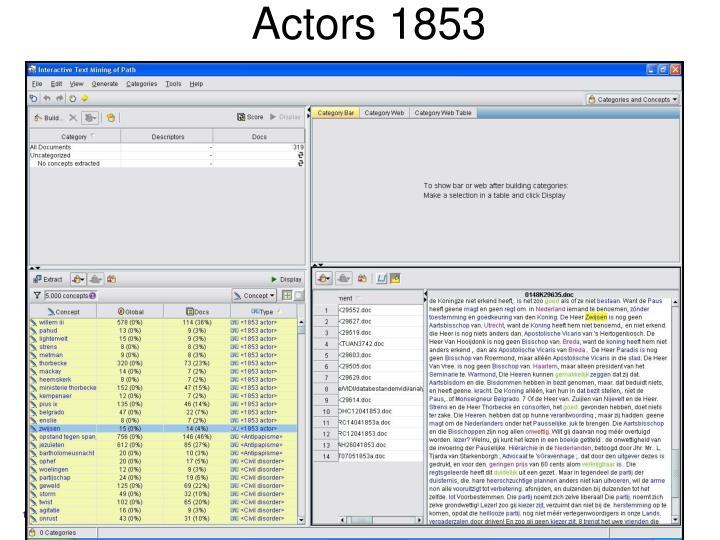 Actors 1853