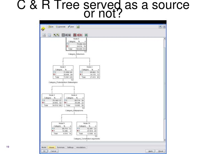 C & R Tree served as a source or not?