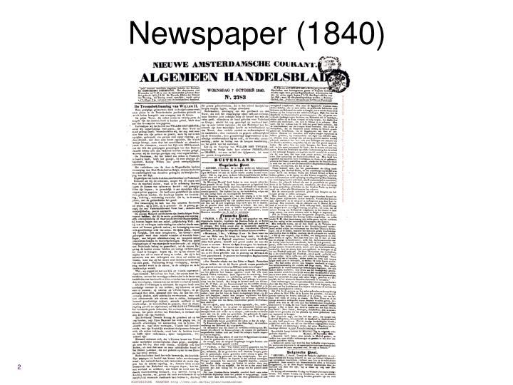 Newspaper (1840)