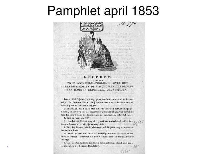Pamphlet april 1853