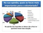 na sua opini o quais os focos mais importantes para o voluntariado