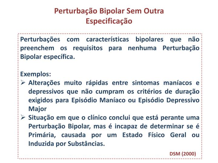 Perturbação Bipolar Sem Outra Especificação