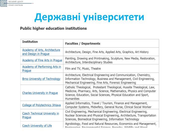 Державні університети
