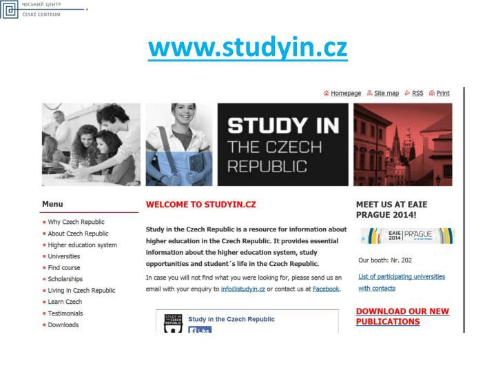 www.studyin.cz