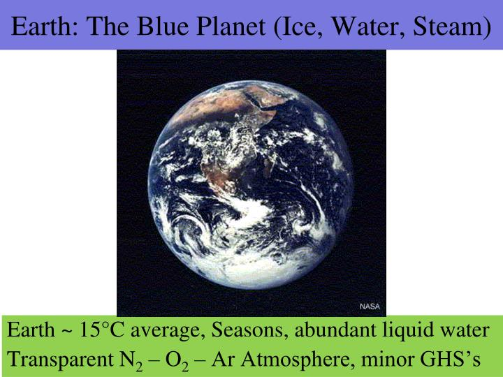 Earth: The Blue Planet (Ice, Water, Steam)