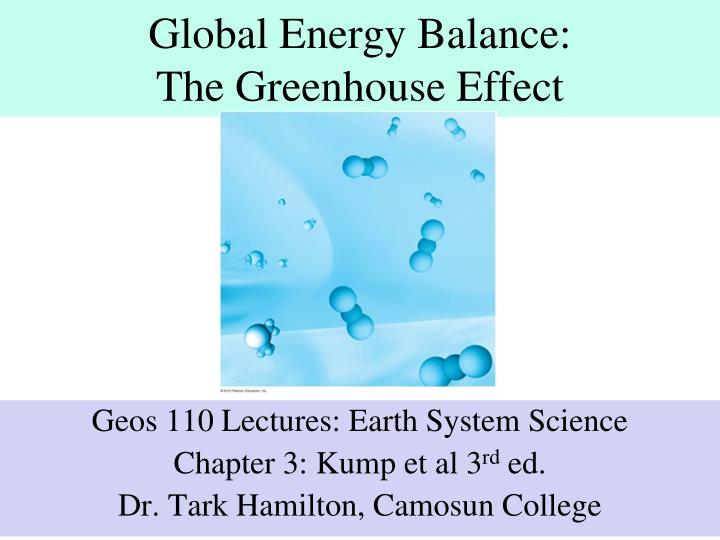 Global energy balance the greenhouse effect