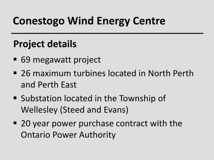 Conestogo Wind Energy Centre