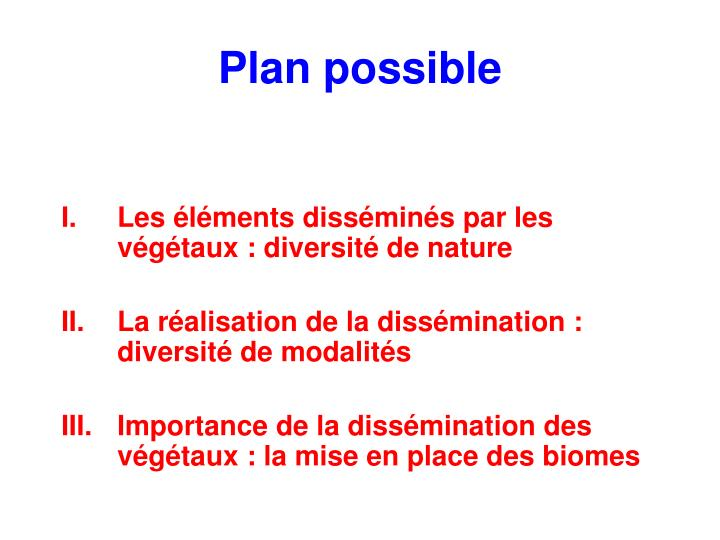 Plan possible