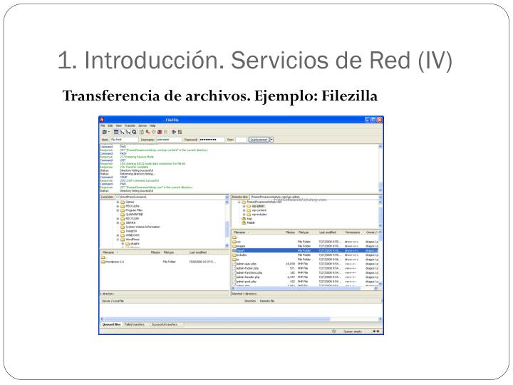 1. Introducción. Servicios de Red (IV)