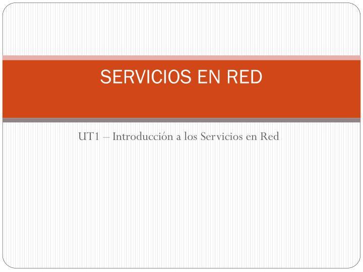 SERVICIOS EN RED