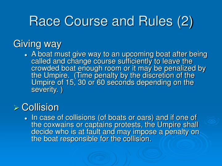 Race Course and Rules (2)