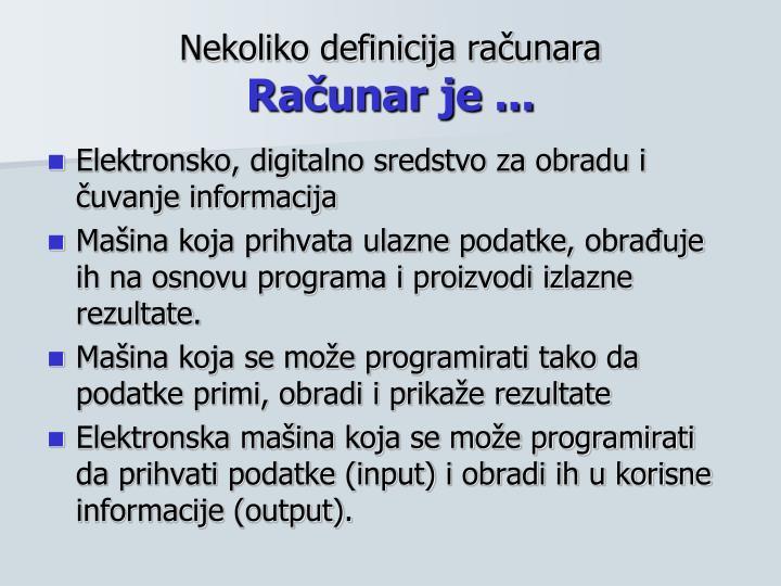 Nekoliko definicija računara