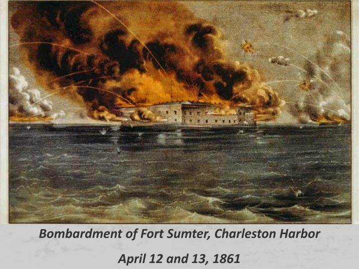 Bombardment of Fort Sumter, Charleston Harbor
