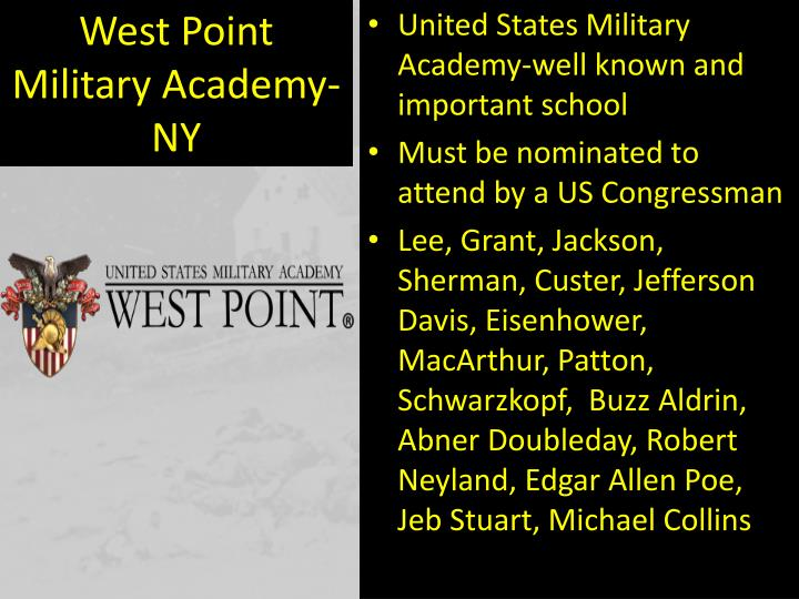 West Point Military Academy-NY