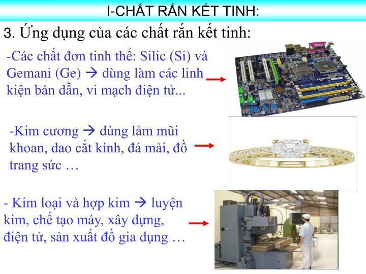 I-CHT RN KT TINH: